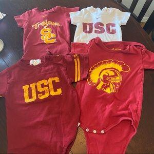 USC Trojans Baby Fan Bundle Gently Used